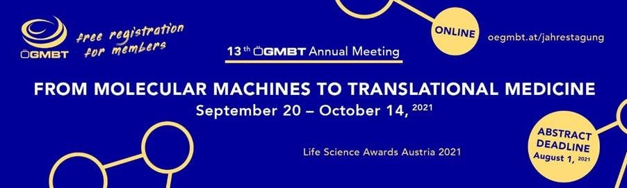 OeGMBT Life Science Award - Abstract Deadline August 1, 2021